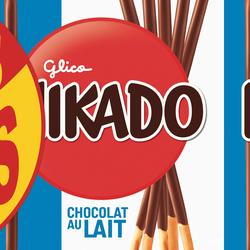 Biscuits chocolat au lait MIKADO, paquet 4x90g + 2 paquet offerts 540g
