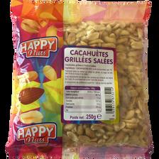 Cacahuètes grillées à l'huile salées happy nuts, 250g