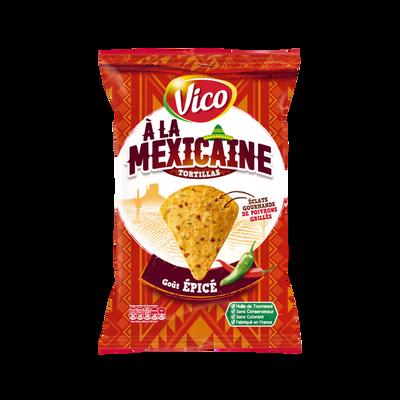 Tortilla à la mexicaine goût épicé VICO, sachet de 150g
