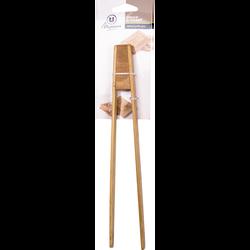 Pince à toast en bambou U, 24,5 cm