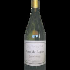 Blanc de blancs vin de pays de l'Hérault, bouteille de 75cl
