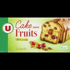 Cake aux fruits U, paquet de 300g