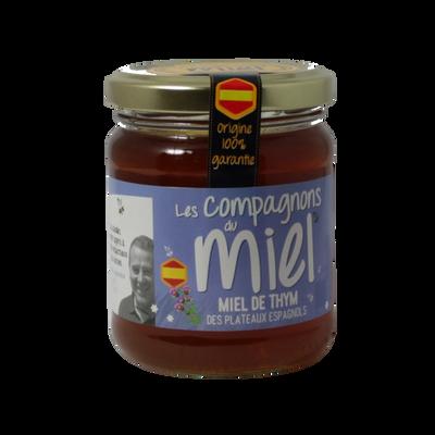 Miel de thym des plateaux espagnols COMPAGNONS DU MIEL, 250g