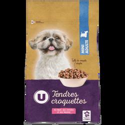 Tendres croquettes pour chien mini boeuf/céréales/légumes U 1,5kg