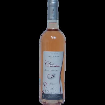 Vin rosé AOP Anjou demi-sec La Délicatesse, bouteille de 75cl