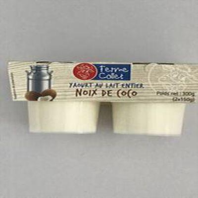 Yaourt melange noix coco x2 300g FERME COLLET