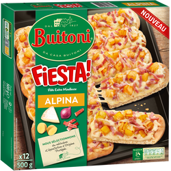 Pizza fiesta alpina BUITONI, 500g