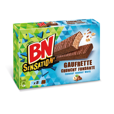 Gaufrettes BN sensation crunchy fondante, 180g