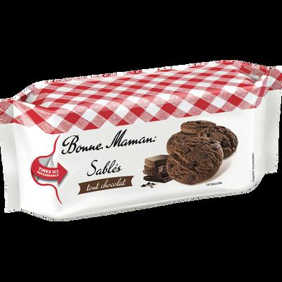 Sablés tout chocolat BONNE MAMAN, paquet de 150g