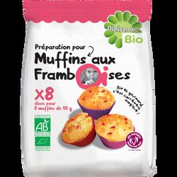 Préparation pour muffins aux framboises PLAISANCE BIO, 230g