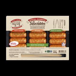 Minis saucisses charcutières recettes estivales (tomates poivron, moutarde, herbe prov) MORTEAU SAUCISSE, 600gr