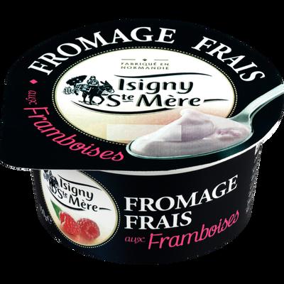 Fromage frais aux framboises ISIGNY STE MÈRE, 6,5% de MG, pot de 150g