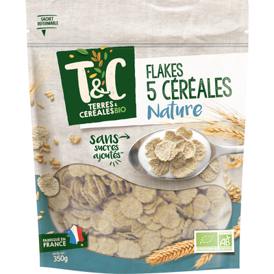 Flakes 5 cereales TERRES ET CEREALES, 350 g