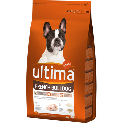 Croquettes pour chiens French Bulldog ULTIMA, 1,5kg