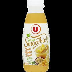 Smoothie ananas mangue passion flash pasteurisé U, 50cl
