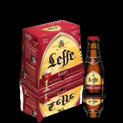 Bière Ruby ABBAYE DE LEFFE, 5°, pack de 6x25cl