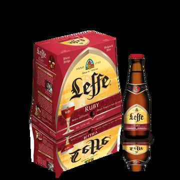 Leffe Bière Ruby Abbaye De Leffe, 5°, Pack De 6x25cl