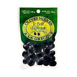 Olives noires à la Grecque LE BRIN D'OLIVIER, 150g
