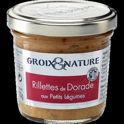 Rillette de dorade aux petits légumes GROIX & NATURE, 100g