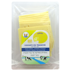 Havarti light tranche casher TWIN BRAND, 24% de MG, sachet de 160g