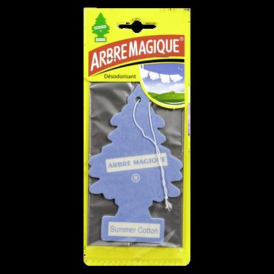 Sapin parfumé bleu ciel ARBRE MAGIQUE, parfum réconfortant qui retientl'odeur des fleurs de cotonnier dans une brise estivale