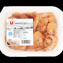 Crevette cuite, Penaeus spp, U, 50/70, élevée en Amérique Sud/Centrale, barquette 500g