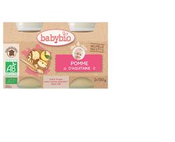 BABYBIO Pomme AQUITAINE 2X130 GRS
