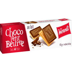 Choco biscuits petits beurre au lait WERNLI, 125g