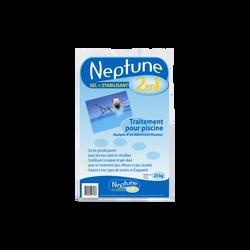 Sel stabilisant 2 en 1 pour piscines NEPTUNE, 250g