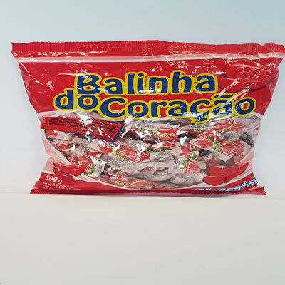 BALA FLORESTA CORACAO MORANGO 500G
