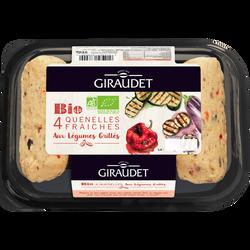 Quenelles légumes grillés bio GIRAUDET, 4x80g