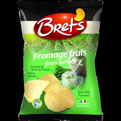 Chips ondulées saveur fromage frais et fines herbes BRET'S, 125g