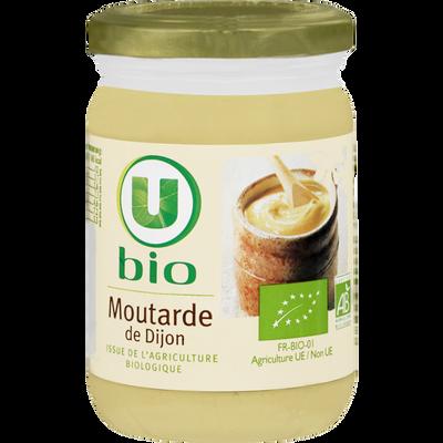 Moutarde de Dijon U BIO, pot en verre de 200g