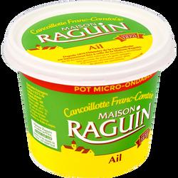 Cancoillotte à l'ail au lait pasteurisé 9,5% de matière grasse RAGUIN,pot de 250g