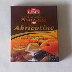 Chocolat au lait fourré Abricot liquide, ORSET.