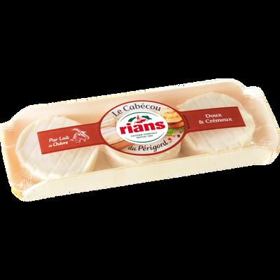 Fromage de chèvre pasteurisé Cabecou RIANS, 22%MG, 3x35g