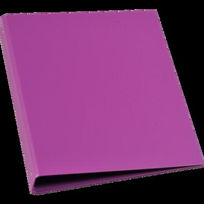 Classeur U 4 anneaux, dos 40mm, extérieur balacron, intérieur papier violet