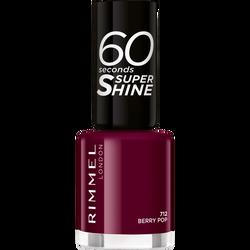 Vernis à ongles 60 seconds super shine colour block 712 berry pop RIMMEL, blister
