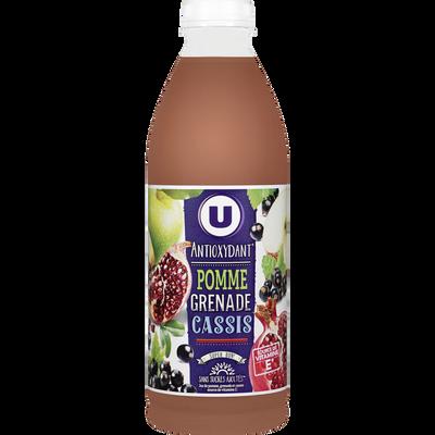 Jus de fruits antioxydant pomme grenade cassis U, bouteille de 1l