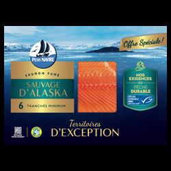 Saumon fumé sauvage d'Alaska PETIT NAVIRE 6 tranches 150g