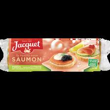 Toasts ronds au persil et citron spécial saumon JACQUET, paquet de 250g