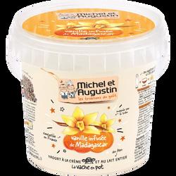 Yaourt onctueux vanille de Madagascar MICHEL ET AUGUSTIN, pot de 500g