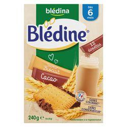 Céréales bébé Blédine cacao/biscuité dès 6 mois BLEDINA, les 12 dosettes de 20g