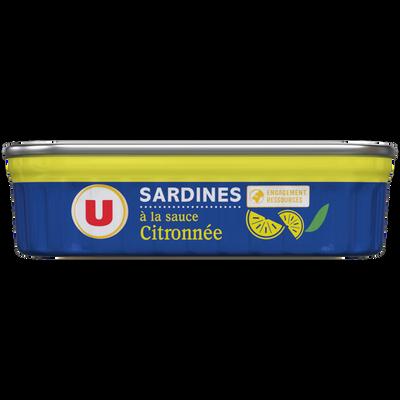 Sardines sauce citronnée U, boîte de 135g