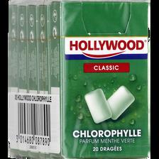Chewing gum à la chlorophylle HOLLYWOOD Regular dragées, 5x28g