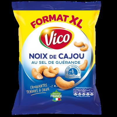 Noix de cajou grillées à sec au sel de guerande VICO, sachet de 230g