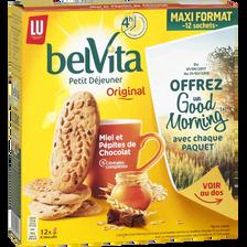 Biscuits au miel et pépites de chocolat PETIT DEJEUNER lu, 650g