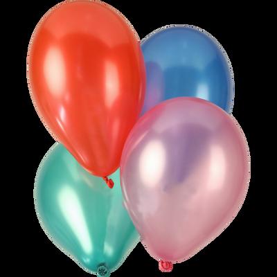 Ballons perles, 10 unités, couleurs nacrées assorties