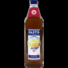 Pastis de Marseille 45° U, bouteille 1l