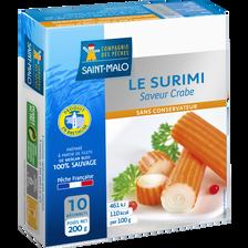 Bâtonnets de surimi saveur crabe COMPAGNIE DES PECHES ST MALO, 200g